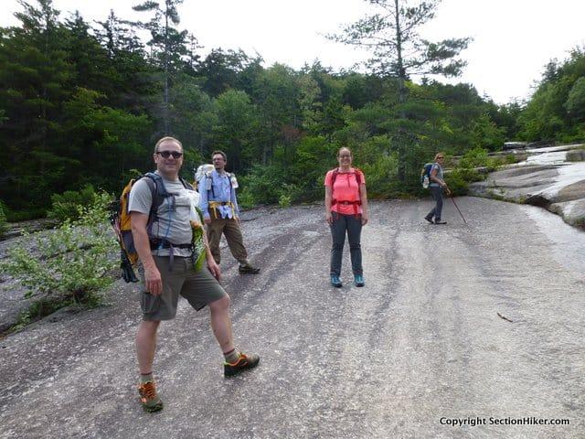 Band of Bushwhackos climbing the Passaconaway Slide
