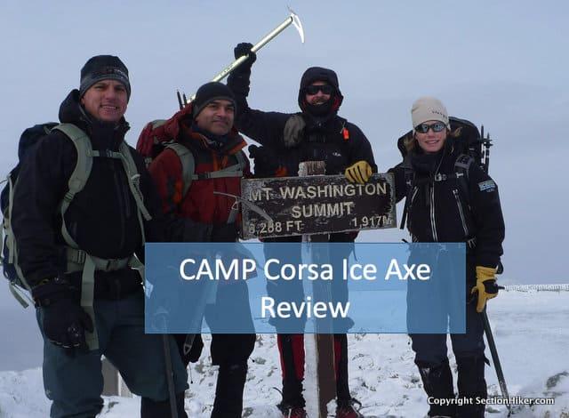 CAMP Corsa Ultralight Ice Axe on Mt Washington