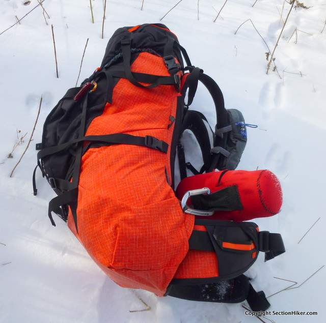 Small gear loops sewn into the seams make it easy to attach gear to the pack in unconventional ways.