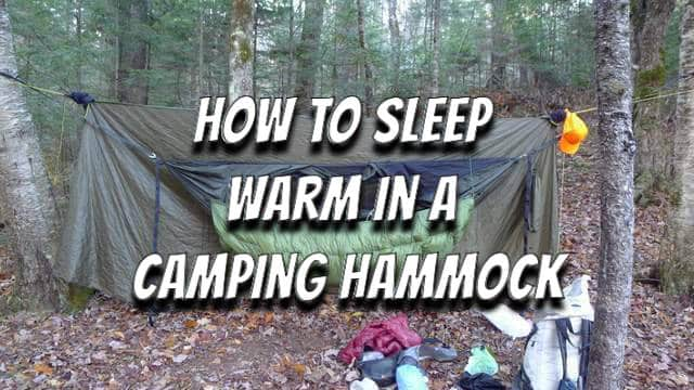 e4813c64239 An insulated underquilt can be used to provide bottom insulation for a  hammock sleeper in cold