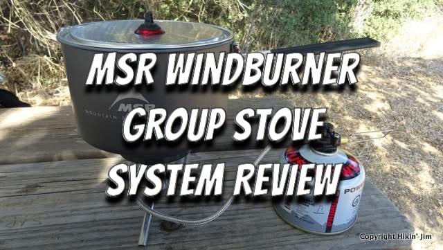 MSR WindBurner Group Stove System Review by Hikin' Jim