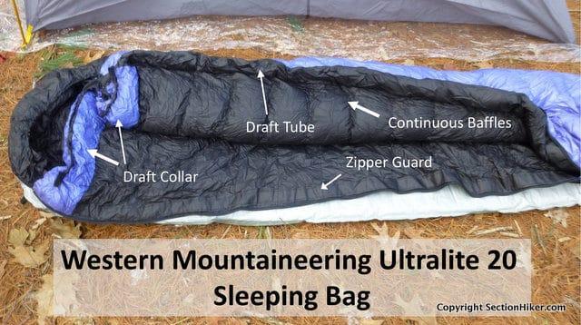 Western Mountaineering Ultralight Sleeping Bag - Key Features