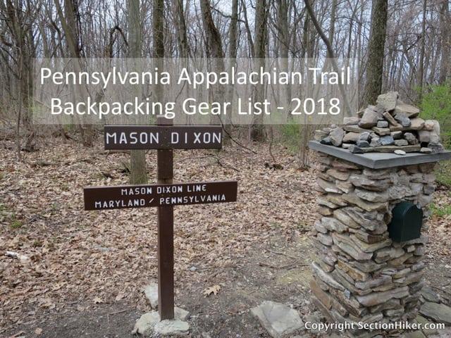 7ae2cbfe1fc Pennsylvania Appalachian Trail Section Hike Gear List - Spring 2018 ...