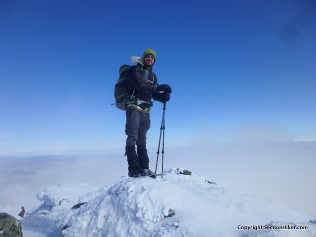 BK on the summit of Mt Madison