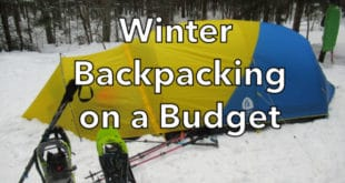 Winter backpacking on a budget