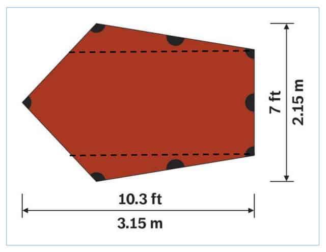 Hilleberg Tarp 5 Dimensions