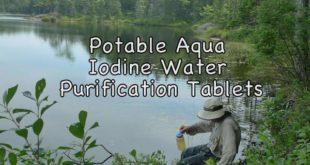 Potable Aqua Iodine Tablets Water Purification Review