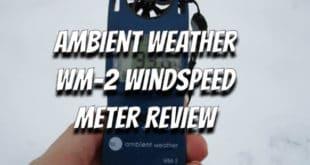 Ambient Weather WM-2 Wind Meter Review