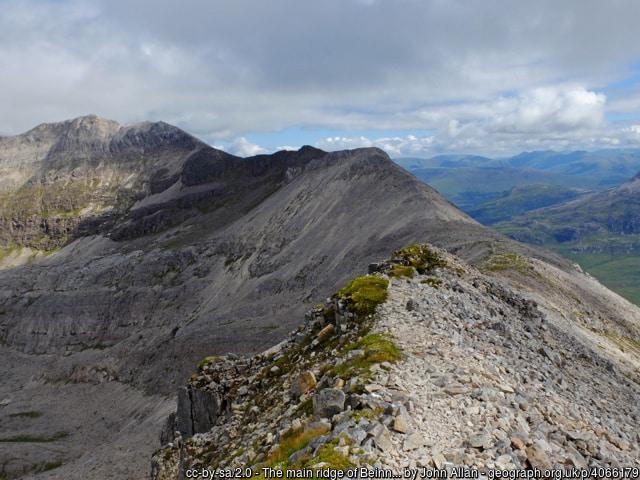 The main ridge of Beinn Eighe (western end)