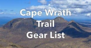 Cape Wrath Trail Gear List