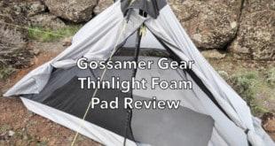 Gossamer Gear Thinlight Foam Pad Review