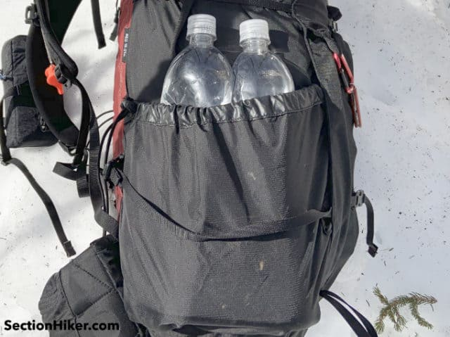 The side water bottle pockets have been completely redesigned on the 2019 model