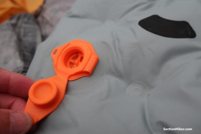 Flat valve closeup