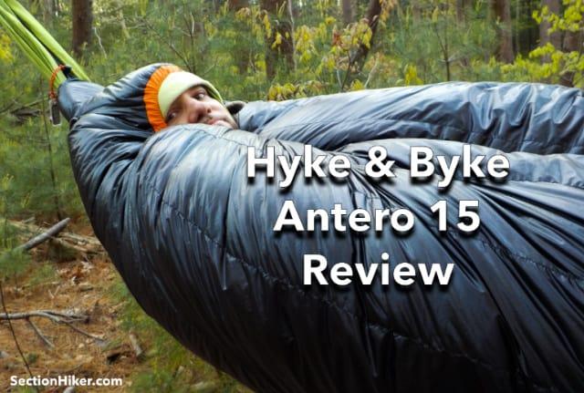 Hyke & Byke Antero 15 Sleeping Bag and Hammock Peapod Review