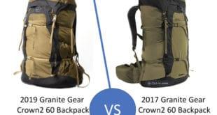 2019 vs 2017 Granite Gear Crown2 60 Backpacks