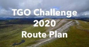 TGO Challenge 2020 Route Plan