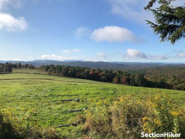Views south while climbing Pitcher Mountain