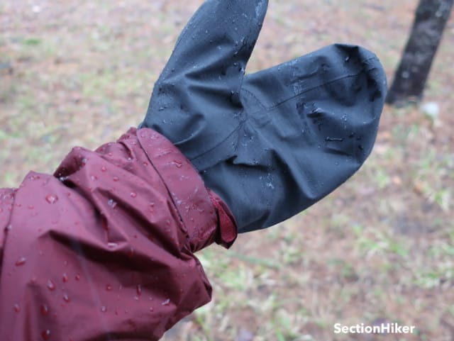 The Versalite Jacket has hook-and-loop cuffs which are good for sealing out wind and moisture