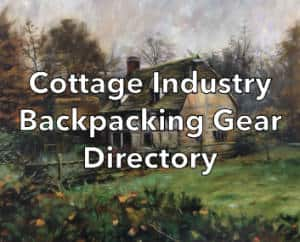 Cottage Backpacking Gear Directory