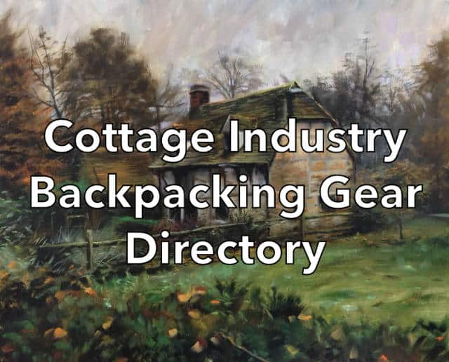 Cottage Industry Backpacking Gear Company Directory