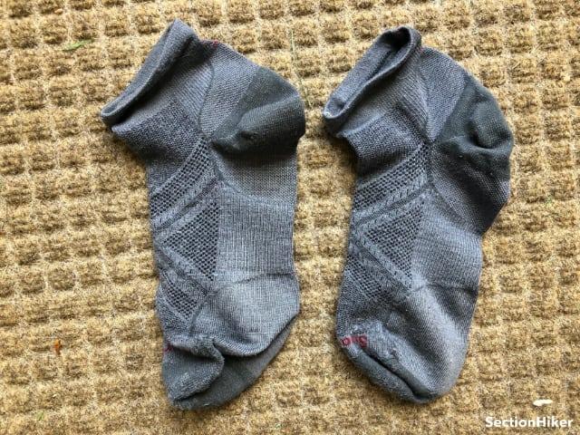 I wear ultralight mini-crew Smartwool socks