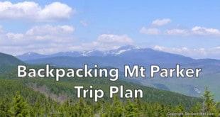 Backpacking Mt Parker Trip Plan