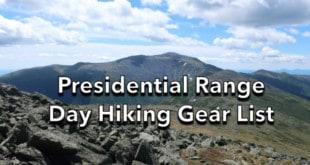 Presidential Range Day Hiking Gear List