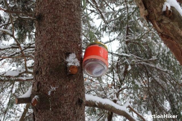 Towns Mountain summit jar