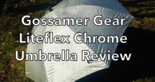 Gossamer Gear Liteflex Chrome Hiking Umbrella Review