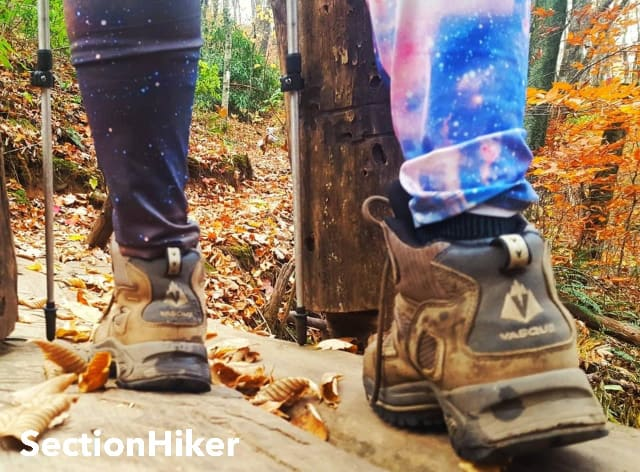Hiking with Vasque boots were my go-to on the AT because I knew my feet were happy in them