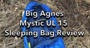 Big Agnes Mystic UL 15 Sleeping Bag Review