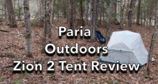Paria Outdoors Zion Tent Reviews