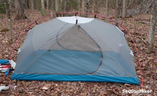 The inner tent is all mesh providing excellent ventilation.