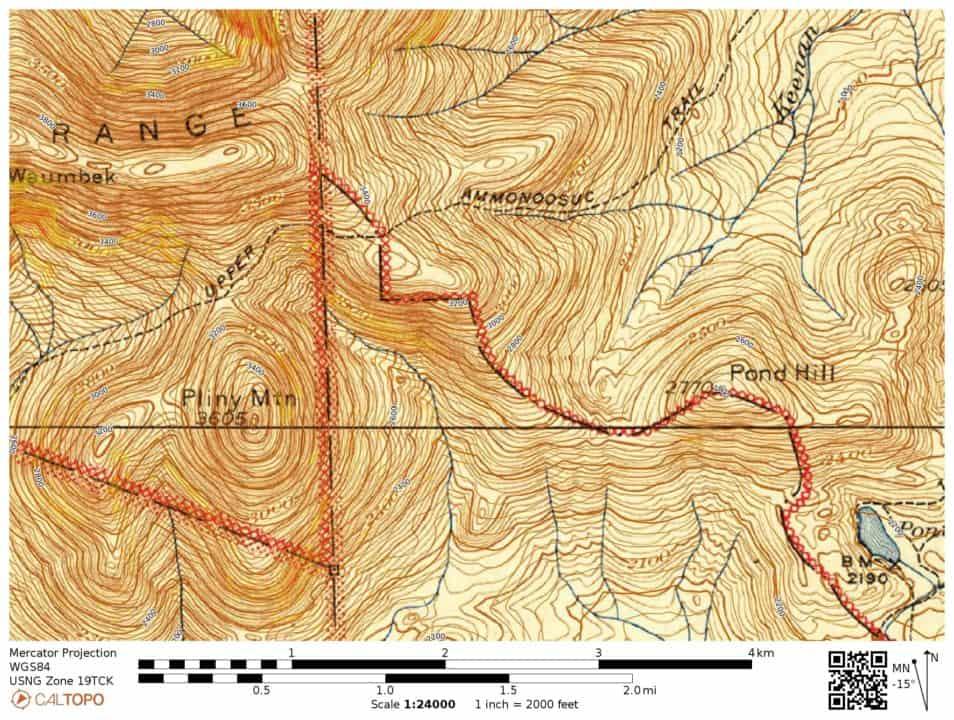 Upper Ammonoosuc Trail USGS 1915-1945