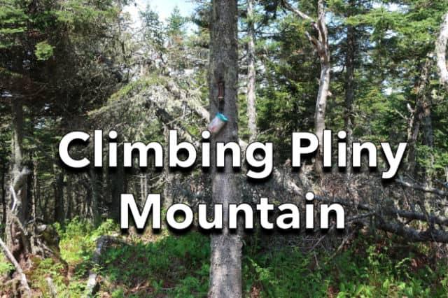 Climbing Pliny Mountain