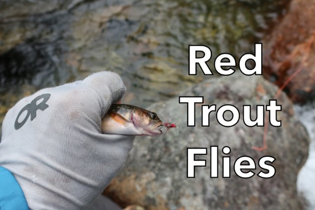 Red Trout Flies