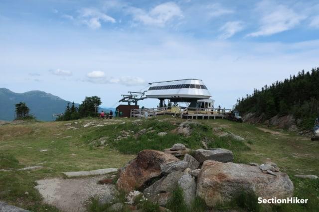 The Gondola Ski Lift at the top of the WildCat Ski Resort across from Mt Washington,