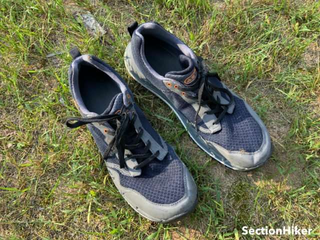 The TR1 Mesh Shoes dry very quickly