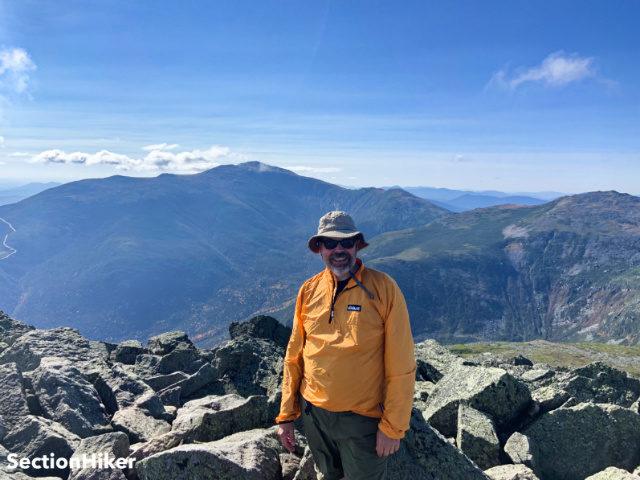 Philip on the summit of Mt Adams