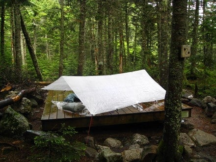 Tarping on the Mahoosuc Trail