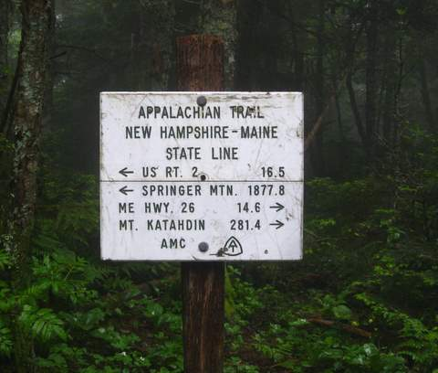 Maine State Line - Appalachian Trail