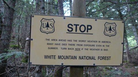 Above Treeline Warning - White Mountains